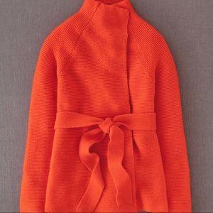 Boden Barcelona Alpaca/Wool Cardigan Orange